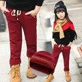2016 Nuevos Niños de la Llegada, Además de terciopelo engrosamiento de Invierno, Niños y niñas Pantalones de la muchacha legging Pantalones de niño de Invierno Pantalones Calientes