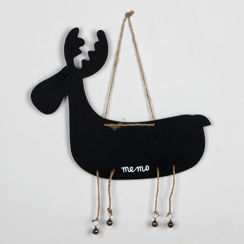 Wooden Animal Blackboard Office/Home/Shop Decoration Board Deer Duck Sheep Christmas Message Board Cute Memo Board Photo Tools