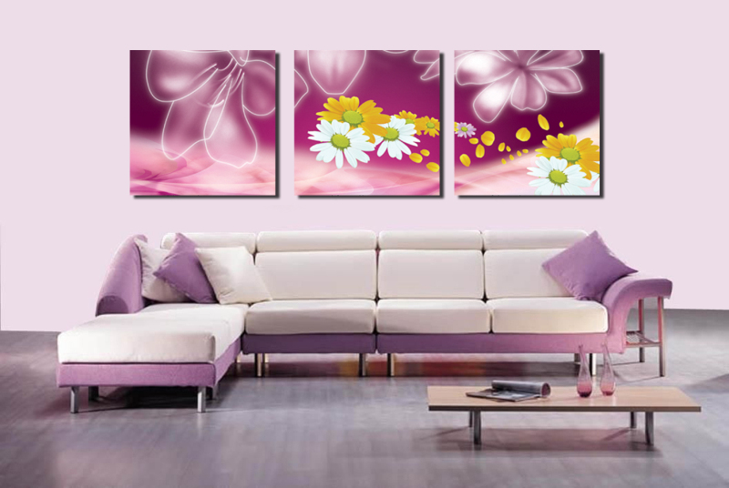 3 Panels/Set Flower HD Canvas Print Painting Artwork Living Room Wall Art Crafts Sticker home Decor Painting Unframed JEP-0148