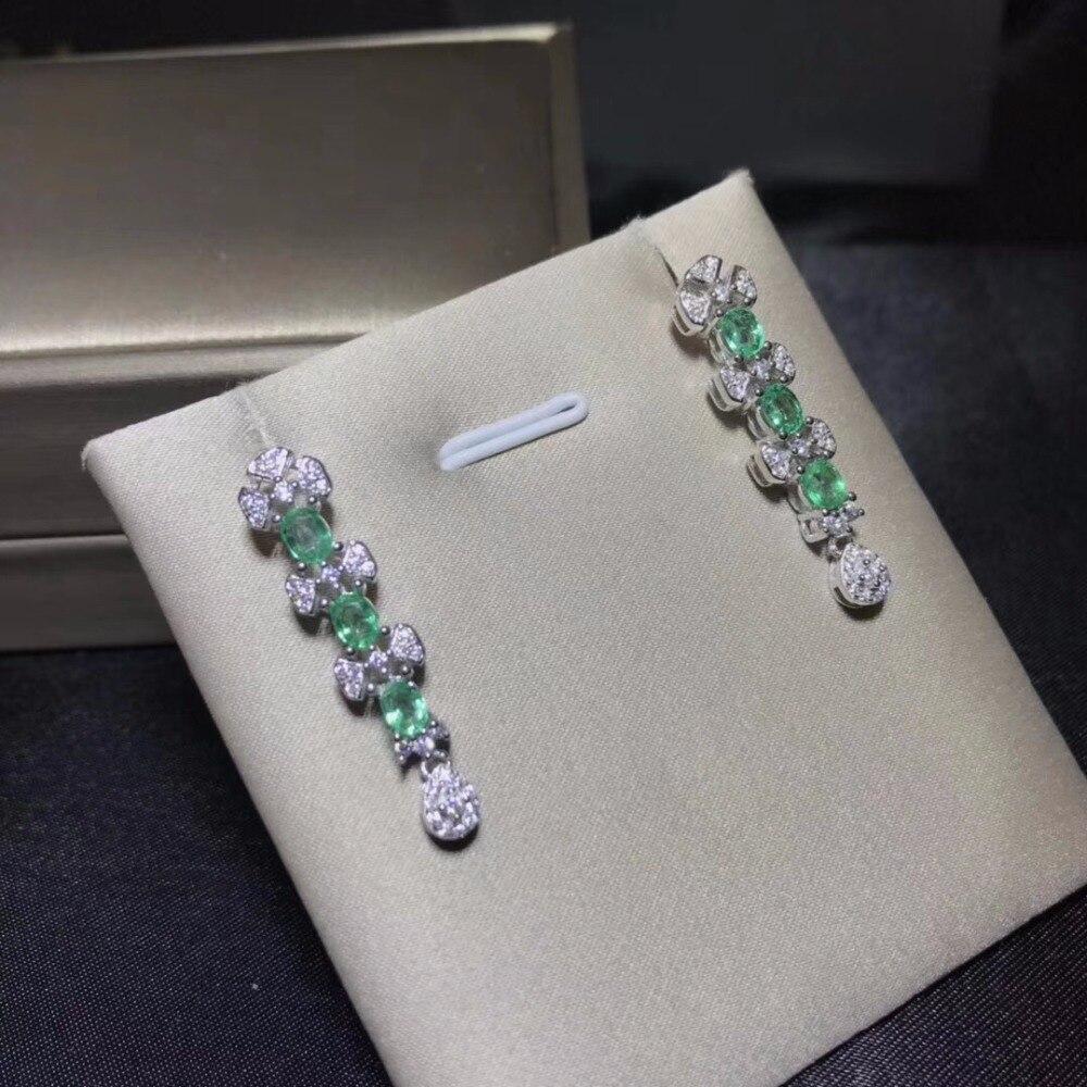 الطبيعي الزمرد أقراط ، متعددة الأحجار الكريمة ، بلورات ، الطبيعي جوهرة متجر ، 925 الاسترليني الفضة-في المعلقات من الإكسسوارات والجواهر على  مجموعة 2