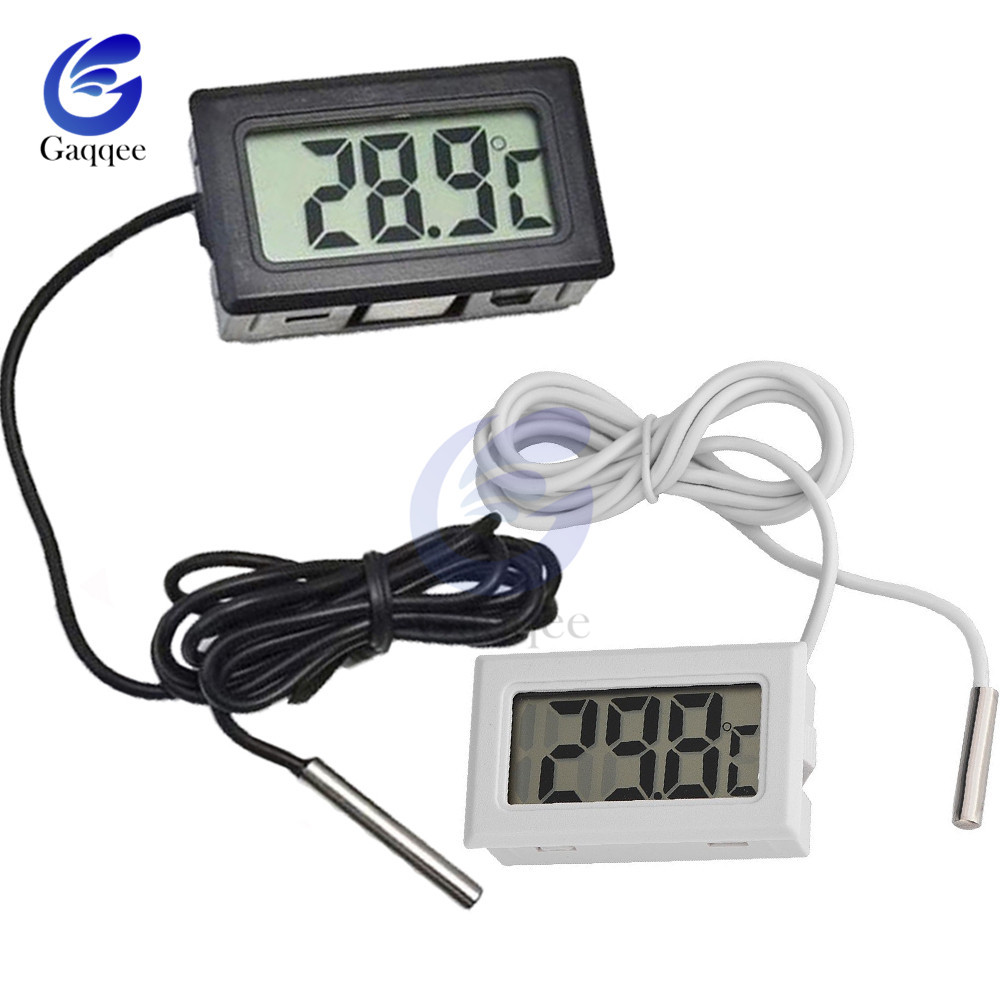 Mini Digital LCD Probe Fridge Freezer Thermometer Sensor Thermometer Thermograph For Aquarium Refrigerator Kit Chen Bar Use 1M(China)