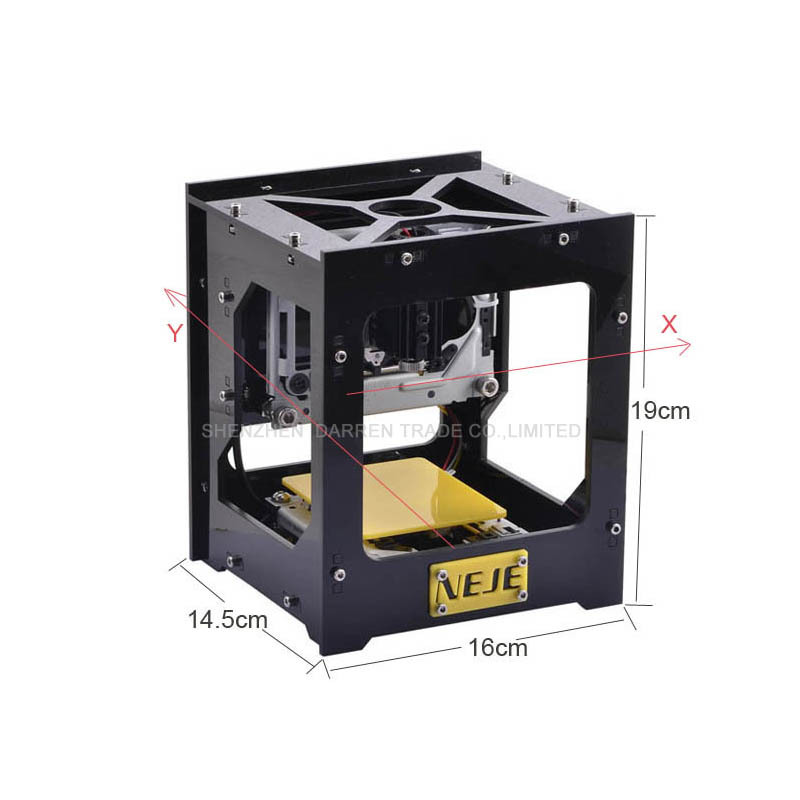 New 300mW USB DIY Laser Engraver Cutter Engraving Cutting Machine Laser Printer Engraving Machine Slaser