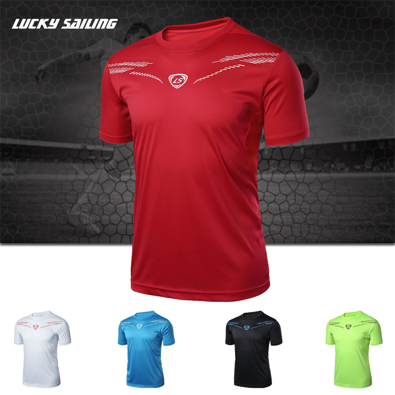 Brand New Mens Summer Style Soccer Jerseys Running T-shirt Short-sleeve Quick Dry Slim Fit O-neck t shirts sports Tops 2018 MaleBrand New Mens Summer Style Soccer Jerseys Running T-shirt Short-sleeve Quick Dry Slim Fit O-neck t shirts sports Tops 2018 Male