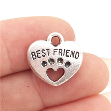 Best Friends Dog Cat Paw Print Charms