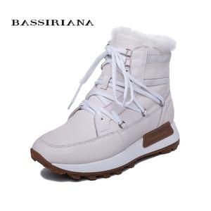 Image 3 - BASSIRIANA ใหม่ฤดูหนาวสบายๆหนา soles, สุภาพสตรีแฟชั่นหนังธรรมชาติขนสัตว์ธรรมชาติรองเท้าแบน sole