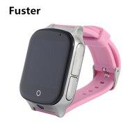 Fuster A19 LBS + GPS + WIFI Locatie Smart Baby Horloge SOS Call om Monitor Uw Kinderen en Kids Trace Smartwatch ondersteuning Sim-kaart