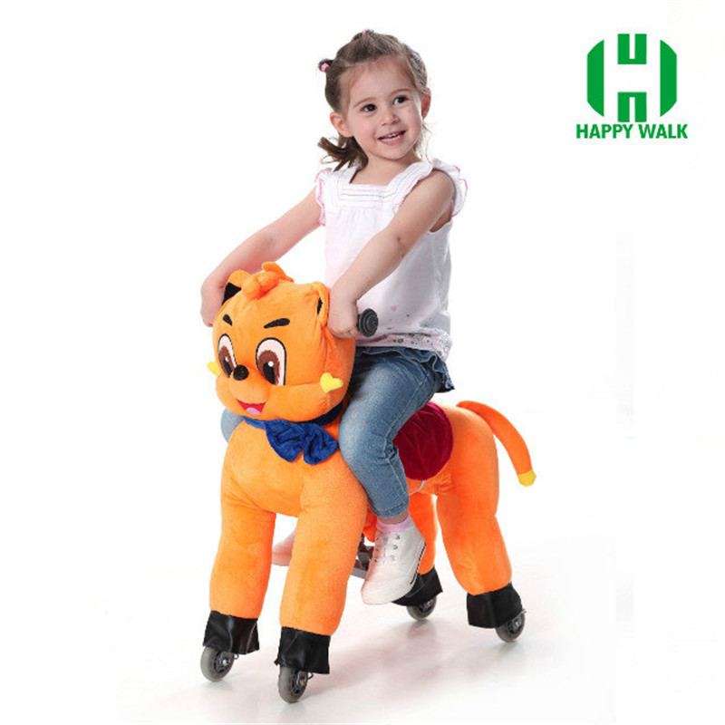 New Brand Deisgn Riding Horse on Wheel Walking Toys Mechanical Horse Animal Ride-On Little Pony Foal for Kids Children Gifts