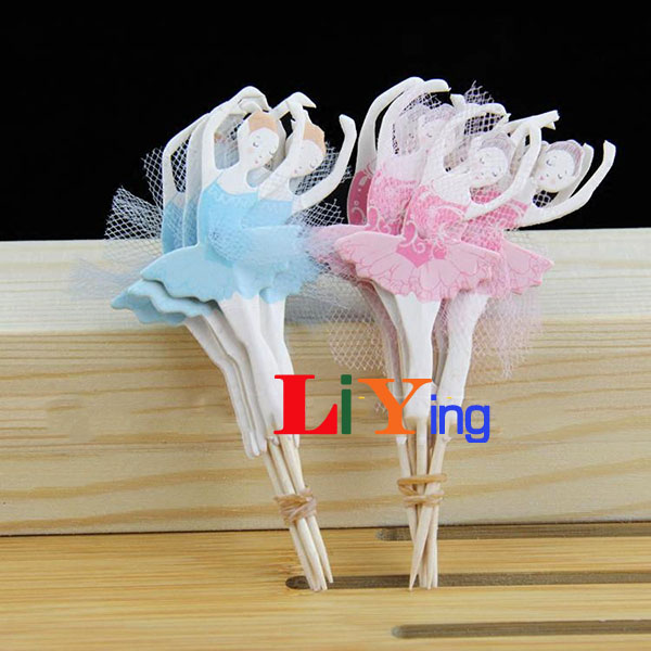 12pc Ballet Girls Dancing Cupcake Liners Topper Toothpick Cake Decorating Tools Paper Craft Lace Kids Birthday