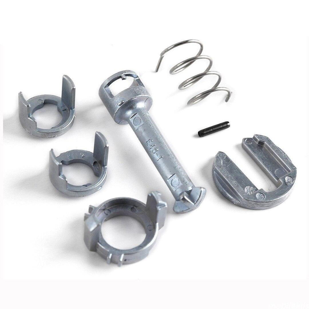7 pièces/ensemble Kit de réparation de baril de cylindre de serrure de porte en métal pour BMW E46 série 3 M3 avant droit/gauche