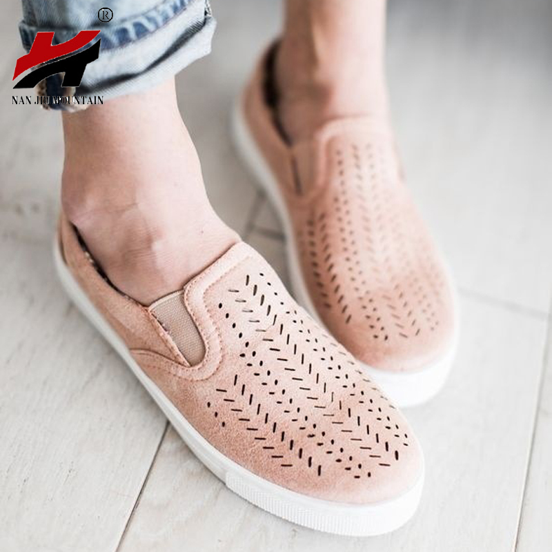 2018 New Fashion Solid Color Large Size Flat With Shoes Hollow Round Canvas Shoes Casual Shoes Size 35-42(China)