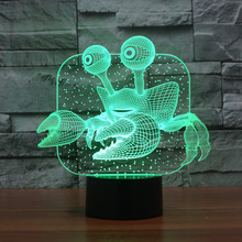 Novelty 3D Effect Ocean Animal Crab Shape Lamp LED Light for House Decorations