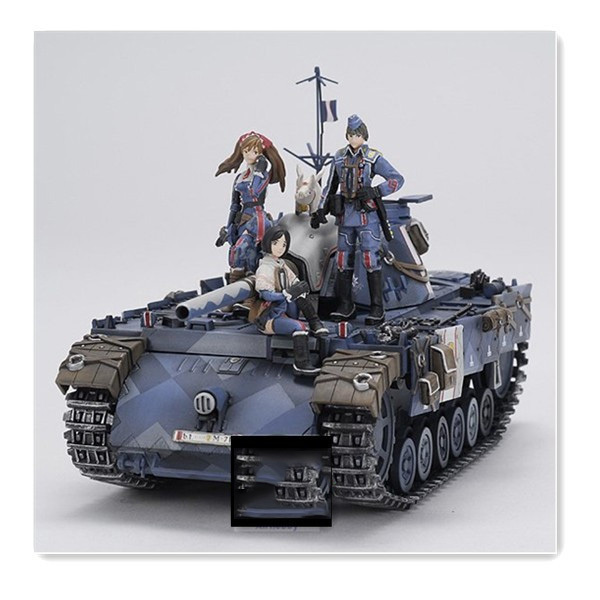 Free Shipping 1/35 Scale Unpainted Resin Figure valkyria chronicles Seventh team 4 figures tank not included collection figure