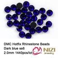 2mm ss6 zafiro color DMC rhinestones calientes del arreglo posterior plana de los rhinestones 1440 unids Alta Calidad Envío Libre