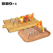 2pcs Taco Holders Stainless Steel Taco Rack Shell Mexican Food Rack Pizza Taco Shell Holder Stand Home Bar Restaurant Food Show