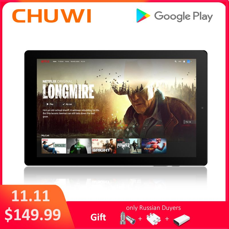 Original CHUWI HiPad Tablet PC MT6797 X27 Deca Core Android 8.0 3GB RAM 32GB ROM Dual 10.1 Inch Tablet WIFI Dual Camera chuwi original hi9 pro tablet pc deca core mt6797 x20 3gb ram 32gb rom android 8 0 8 1 2k screen dual 4g tablet 8 4 inch