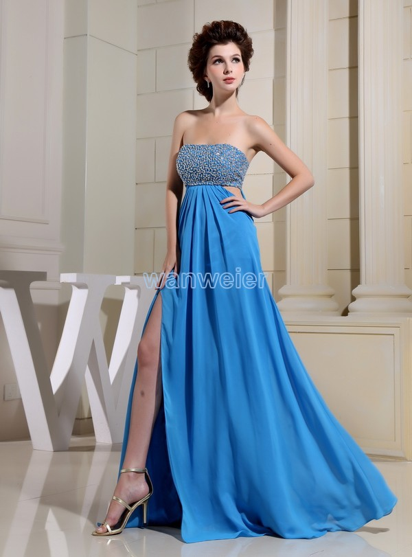 free shipping 2016 party formal dress blue sexy maxi dresses long new design brides maid dress chiffon prom evening Dresses in Evening Dresses from Weddings Events