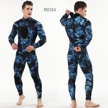 Traje de buceo para hombre trajes de buceo de 3mm para hombre, neopreno de camuflaje, trajes de buceo de una pieza con almohadilla para el pecho