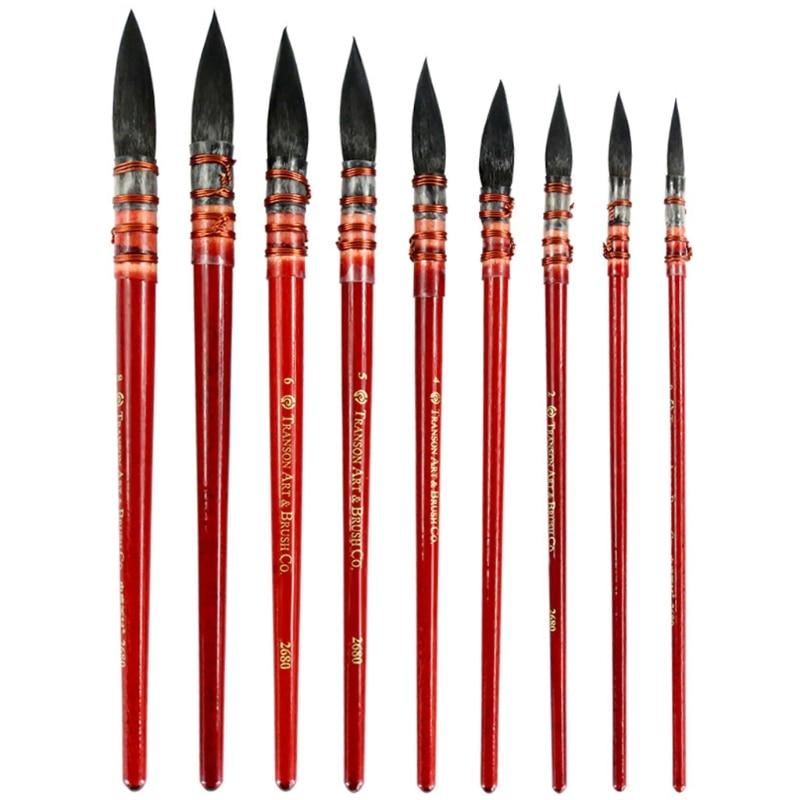 Squirrel Fur Hair Paint Brush Art Watercolor Brush Pen Ancient Rhyme Painting Brush Art Supply