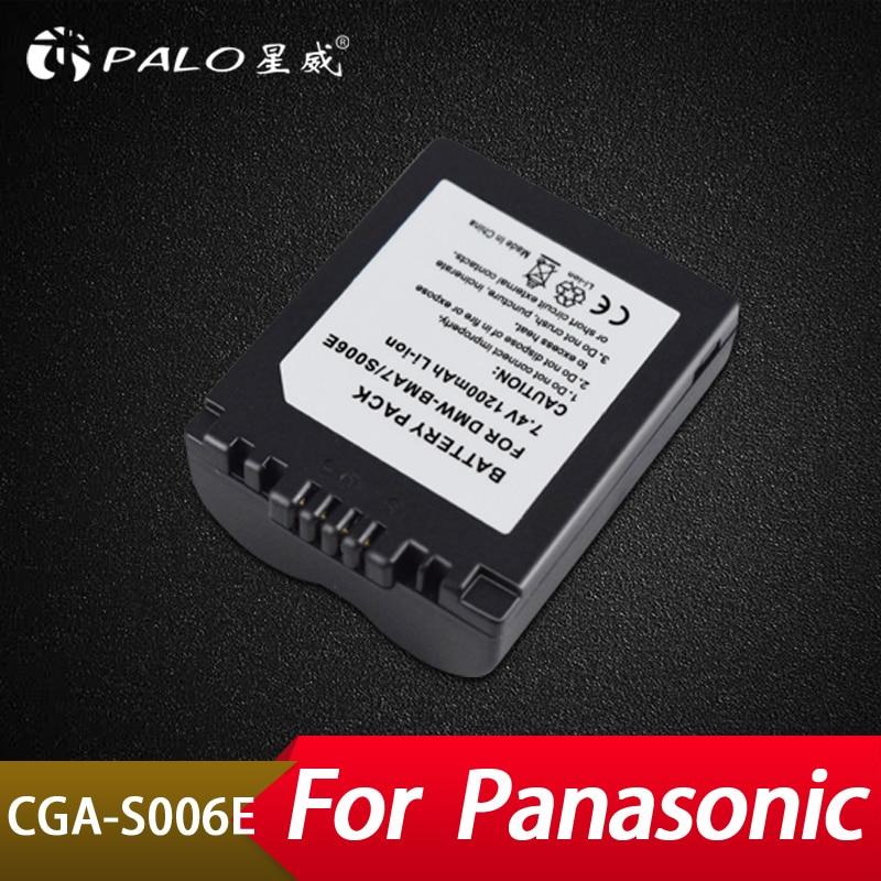 Stromquelle Palo 1200 Mah Cga-s006e S006e Li-ion Batterie Für Lumix Dmc-fz7 Fz8 Fz18 Fz35 Fz28 Fz38 Fz30 Kamera Ersatz Batteria Erfrischung