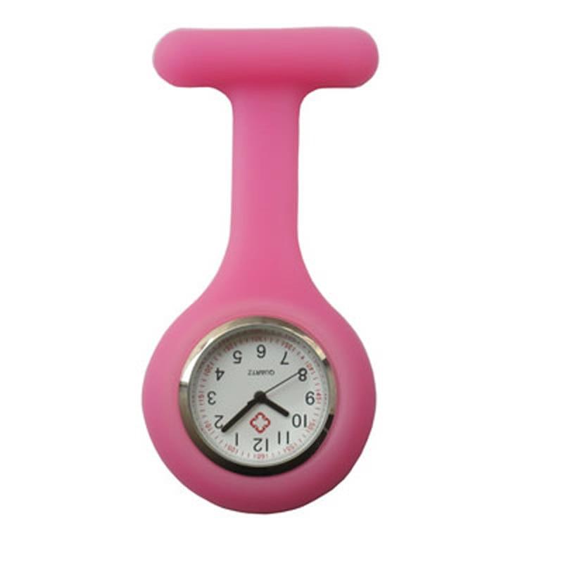 Купить с кэшбэком New Nurses Watches Doctor portable Fob Watch Brooches Silicone Tunic Batteries Medical Nurse Watch Quartz with Clip