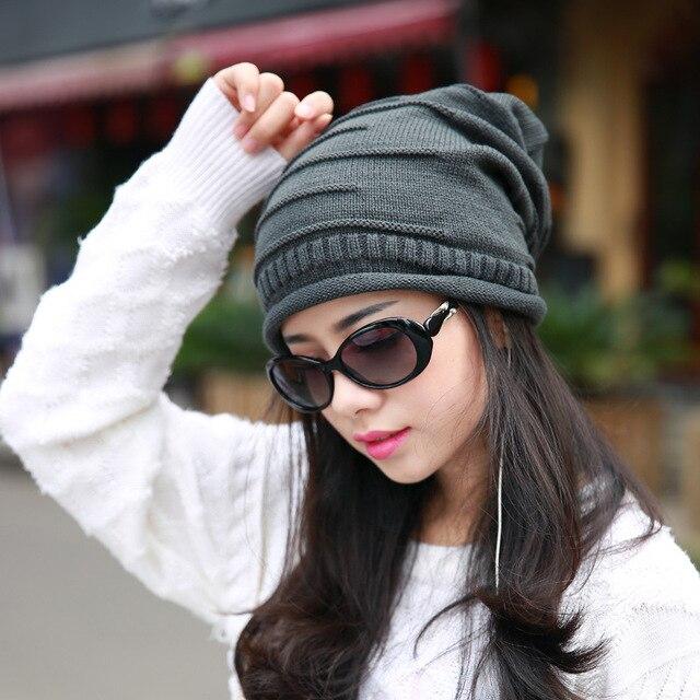 Hot Unisex Women Winter Baggy Beanie Knit Crochet Ski Cap Oversized Slouch  Hat 7ef99a461b3