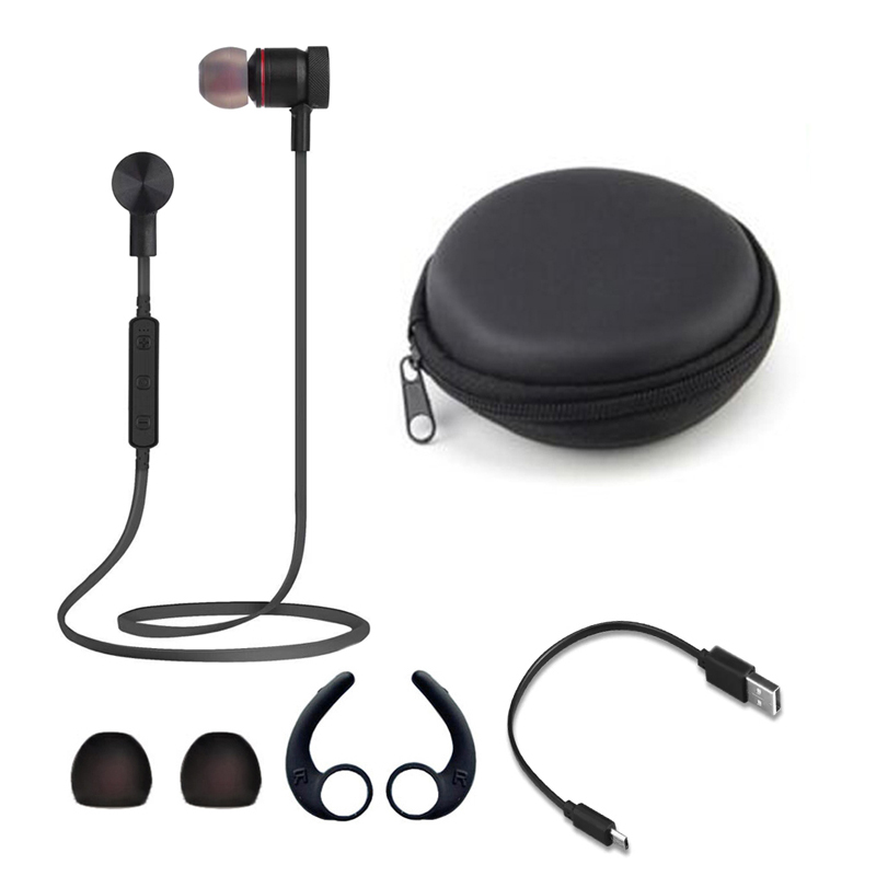 Pluseye Magnetic Earphones Wireless 4.1 Bluetooth Earbuds Stereo Music Sports Headset Hands free Mic Phone Calls for iphone