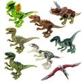 Mundo jurássico Dinossauro Simulação bonecas brinquedos figuras Modelos de Ação Jurassic Park Dinossauro blocos crianças brinquedos de presente