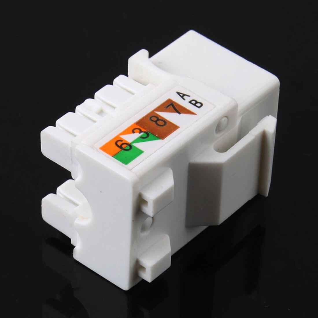 5 lot Keystone Jack Cat6 Black Network Ethernet 110 Punchdown 8P8C RJ45