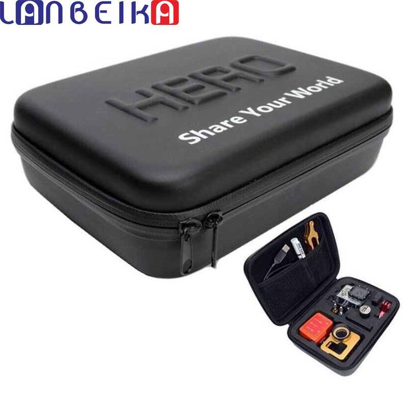LANBEIKA For Gopro Shockproof Waterproof Case Box For SJCAM SJ5000 M20 SJ6 SJ7 Go Pro Hero 6 5 <font><b>4</b></font> 3+ Camera Bag (23 <font><b>x</b></font> <font><b>17</b></font> <font><b>x</b></font> 7 cm)