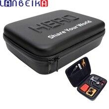 LANBEIKA Goproกันกระแทกกล่องกันน้ำสำหรับSJCAM SJ5000 SJ6 SJ8 SJ9 Go Pro Hero 9 8 7 6กล้องDJI OSMO 23*17*7ซม.