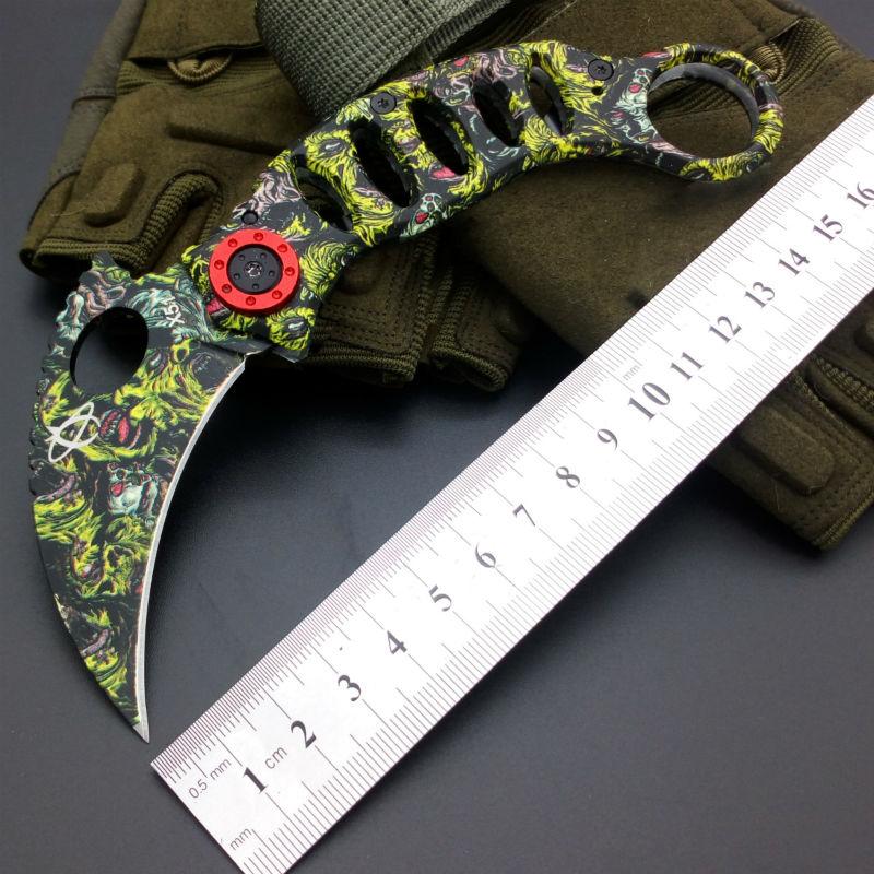 Karambit Claw font b Knife b font Mantis Folding font b Knife b font 440C Blade