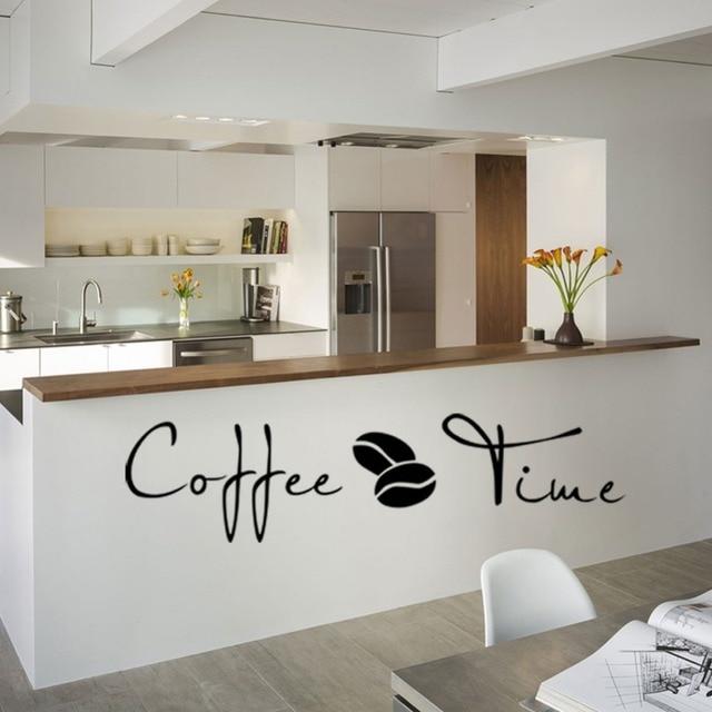 Kaffee Zeit Sprichwort Englisch Wandaufkleber Cafe Küche Dekoration ...