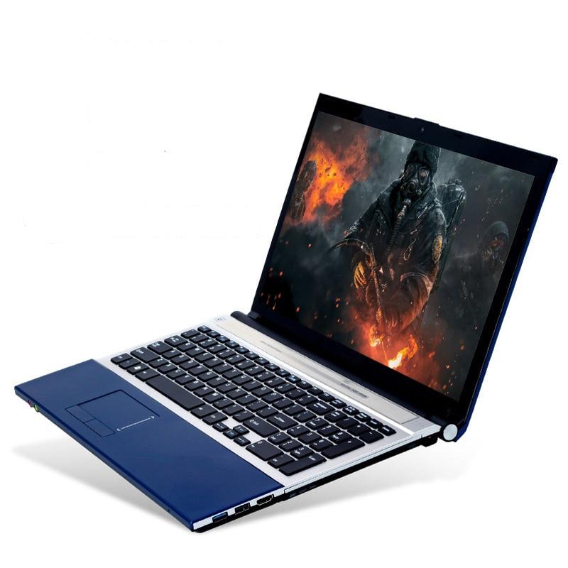 15.6 pouces Intel Core i7 8 GB RAM 120 GB SSD 750 GB HDD 1920*1080 P FHD écran DVD RW Windows 7/10 système de jeu PC portable ordinateur portable