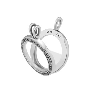 Image 2 - Medium FANDOLA floating locket Pendant Necklace 100% 925 Sterling Silver Jewelry Free Shipping