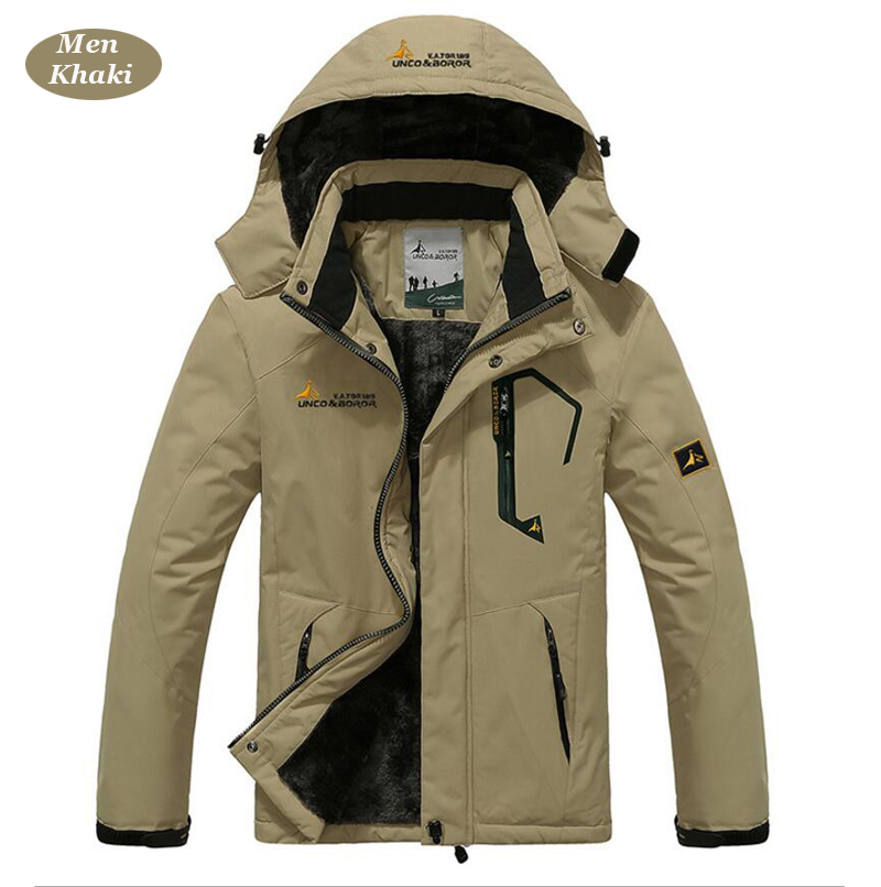 UNCO&BOROR winter jackets men women`s outwear fleece thick warm cotton down coat waterproof windproof parka men brand clothing 13