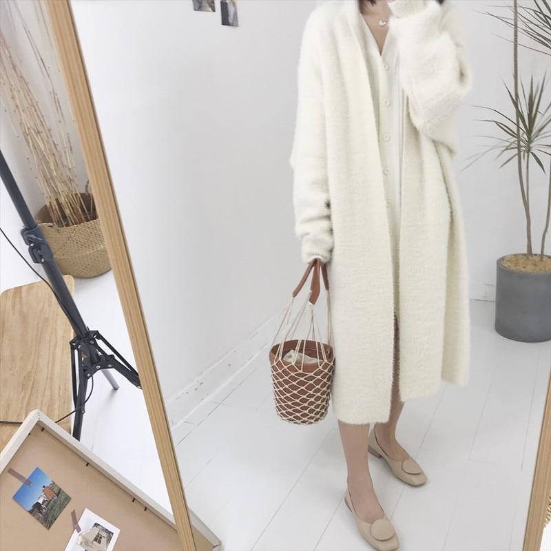 Punto Oversized Moda Mujer 2018 Suelta Otoño Invierno Caliente Suave Casual Suéteres As Picture Cachemir Chic Rebeca Chaqueta Lana De Chaquetas qwxYTF5nt5