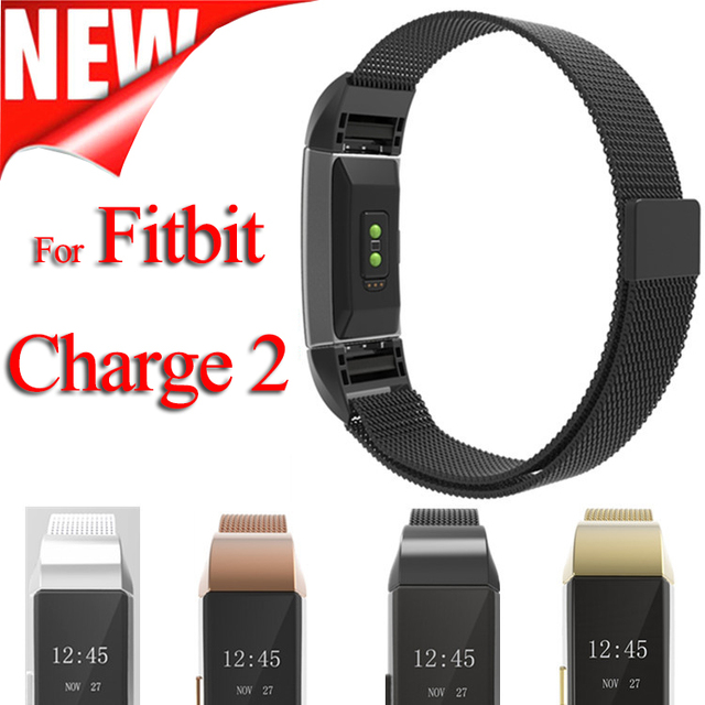 Small and Large Size Milanese Loop Stainless Steel Watch Band Strap Bracelet For Fitbit Charge 2