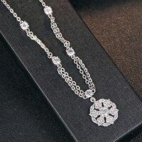 Luxe Galaxy CZ 925 Sterling Zilveren Hanger Kerst Charms Accessoires Luxe Merk Kristal Drijvende Medaillon Slinger Sieraden