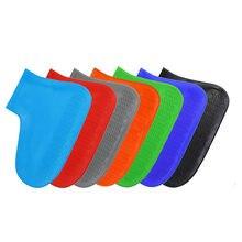 Silicone Overshoes Reusable Waterproof Rainproof Men Shoes Covers Rain Boots Non-slip Washable Unisex Wear-Resistant
