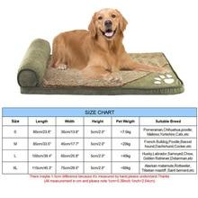 pawstrip 4 Colors Paw Large Dog Bed House Soft Fleece Dog Sofa Beds For Large Dogs Husky Labrador Dog Cushion Pillow