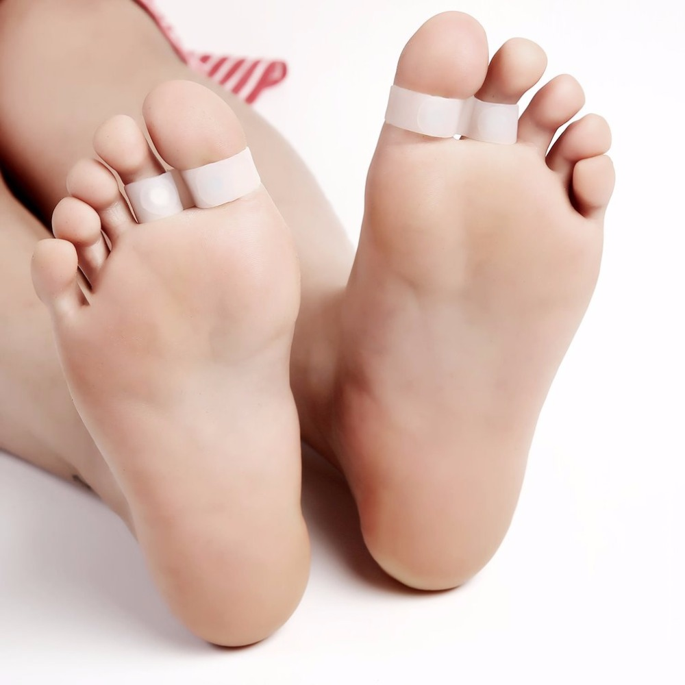 1 Pair Magnetic Silicon Diet Slimming Foot Double Toe Ring Weight Loss Diet Massage Fitness Slimming Promotiom drop shipping