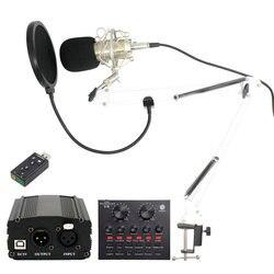 bm 800 Professional Condenser Microphone for Computer Audio Studio Vocal Rrecording karaoke interview Mikrofon Mic Phantom Power