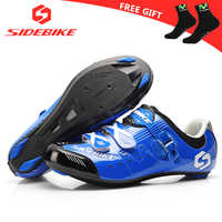 sidebike sapatilha ciclismo cycling shoes road men racing road bike shoes self-locking bicycle speakers athletic professional