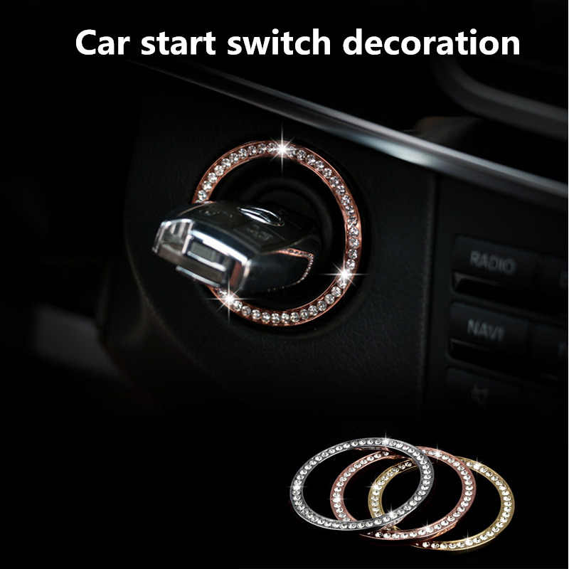 Car Ignition Engine Starter Stop Button Stickers For Mercedes benz GLC ML GLK CLS E C Class GLK350 ML350 Tag CL550 E350 S550