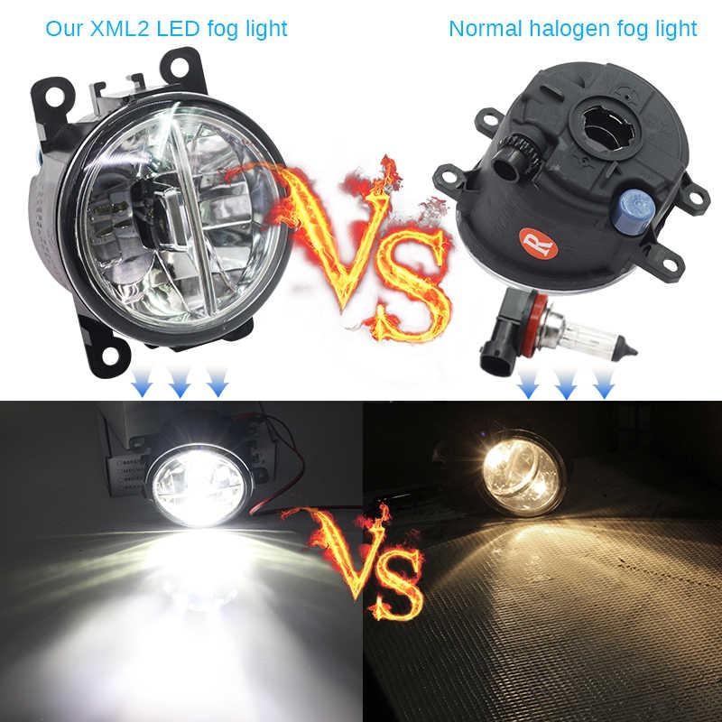 Buildreamen2 2 Pieces Car Styling 4000LM LED Fog Light DRL Daytime Running Lamp White 12V For Honda Crosstour 2013 2014 2015