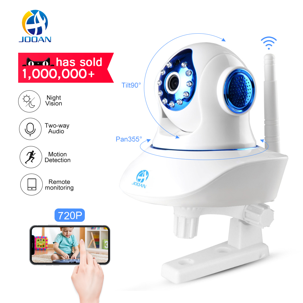 JOOAN Wireless IP Della Macchina Fotografica 720 p 1080 p HD WiFi intelligente di Sicurezza Domestica IRCut Visione Video CCTV di Sorveglianza Macchina Fotografica Animale Domestico baby Monitor