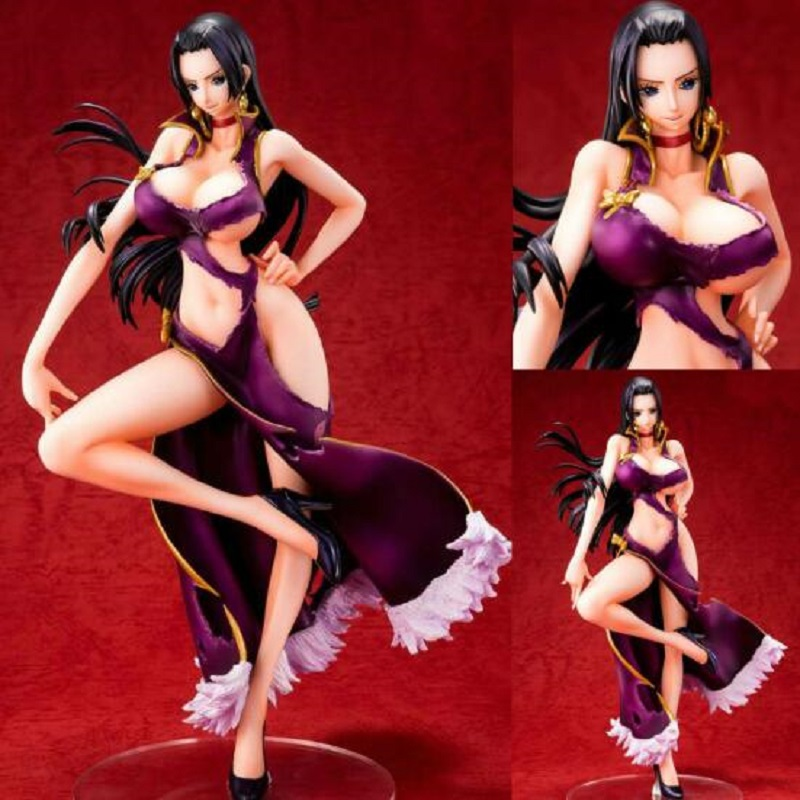 цена на One Piece 23cm Nico Robin Pvc Display Anime Figure Toy Cartoon One Piece Nico Robin Model Collection Toys Sexy Girl Jouet