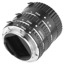 Metal Auto Focus AF Macro Extension Tube Ring adapter for CANON EOS EF-S Lens