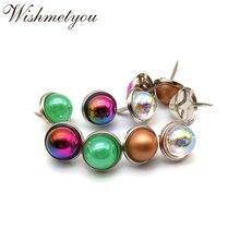 WISHMETYOU 30pcs 15mm Charm Pearl Brads Handmade Scrapbooking Decor Embellishments Photo Album Crafts Colorful Transparent