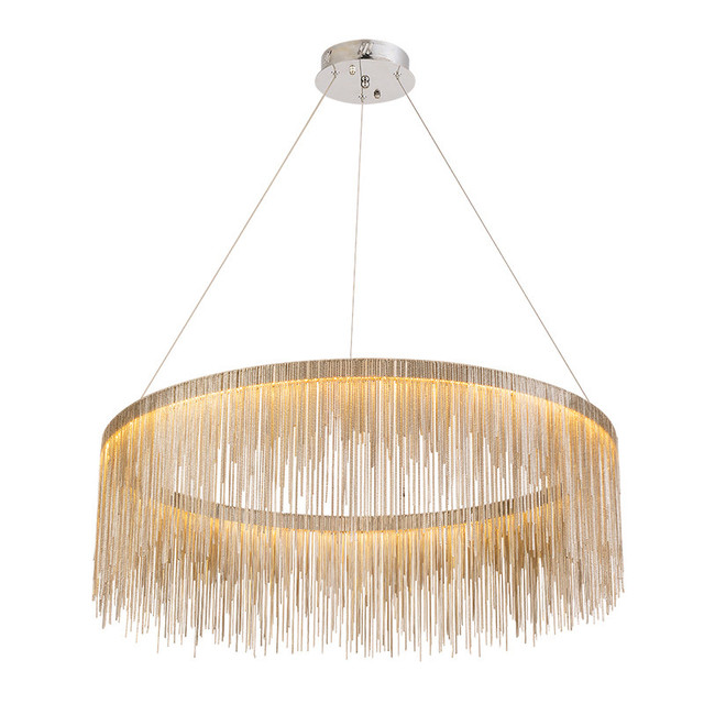Post modern led pendant light metal chrome gold chain plating dia post modern led pendant light metal chrome gold chain plating dia60cm 80cm creative aloadofball Image collections